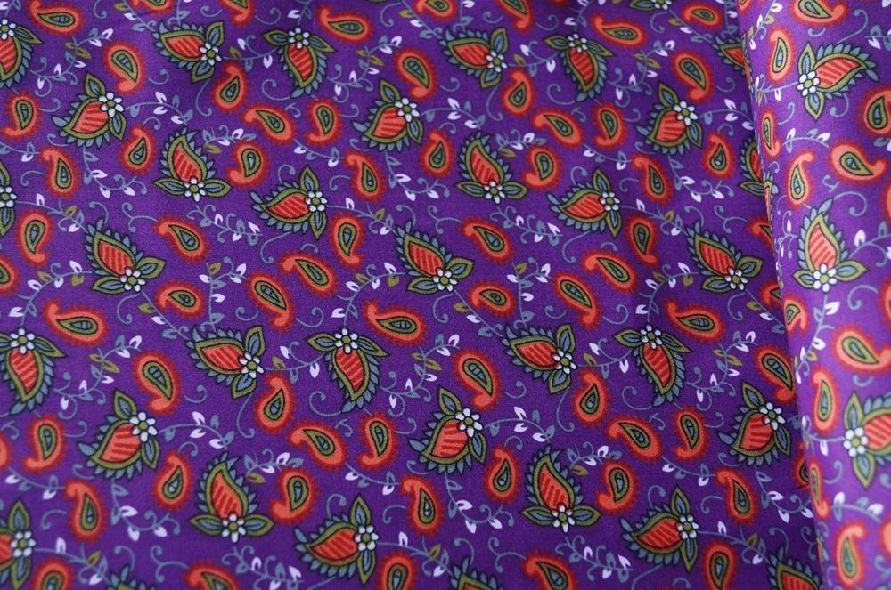 Paisley Muster Stoff : d nner stoff lila paisley muster stoffe versandkostenfrei ~ Watch28wear.com Haus und Dekorationen