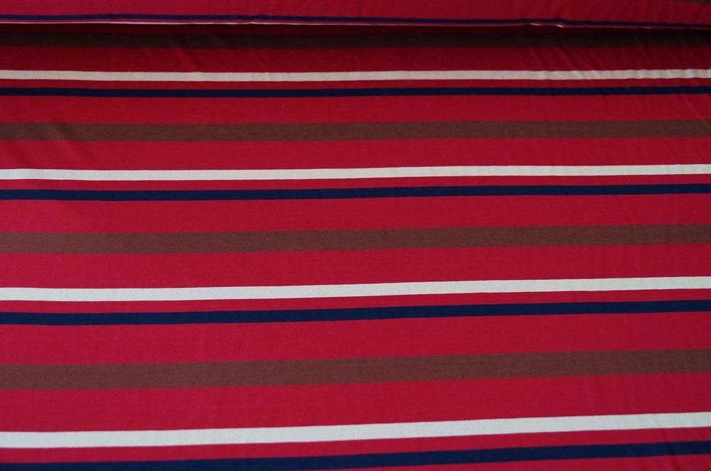 jersey stretch stoff rot gestreift baumwolle 0115 ebay. Black Bedroom Furniture Sets. Home Design Ideas