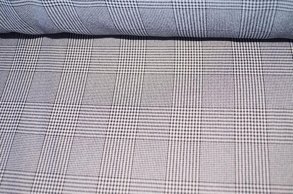karostoff kleiderstoff weiss kariert schwarz. Black Bedroom Furniture Sets. Home Design Ideas