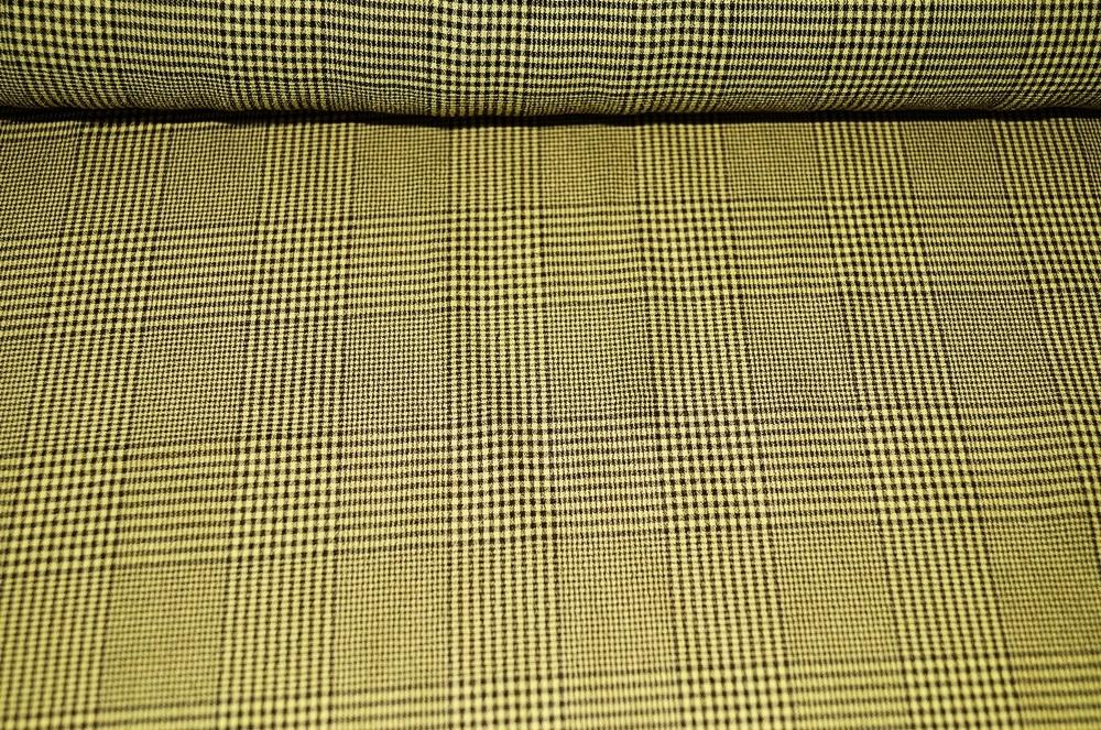 karostoff kleiderstoff gelb kariert schwarz. Black Bedroom Furniture Sets. Home Design Ideas