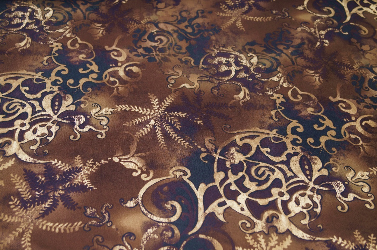 hosenstoff stretch braun blumen baumwolle stoff 03113 ebay. Black Bedroom Furniture Sets. Home Design Ideas