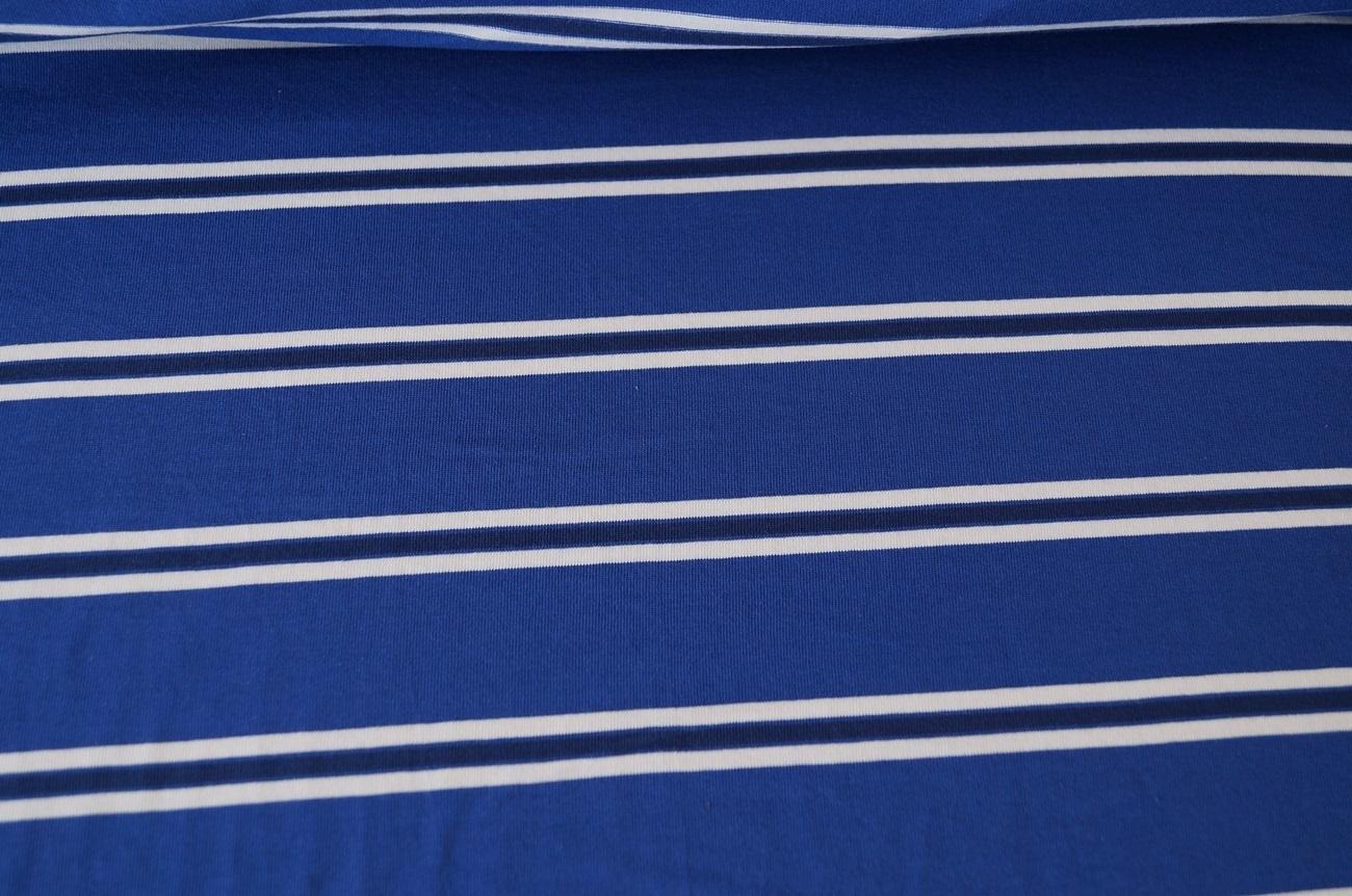 xxl baumwolle jersey stoff blau gestreift 01008 ebay. Black Bedroom Furniture Sets. Home Design Ideas