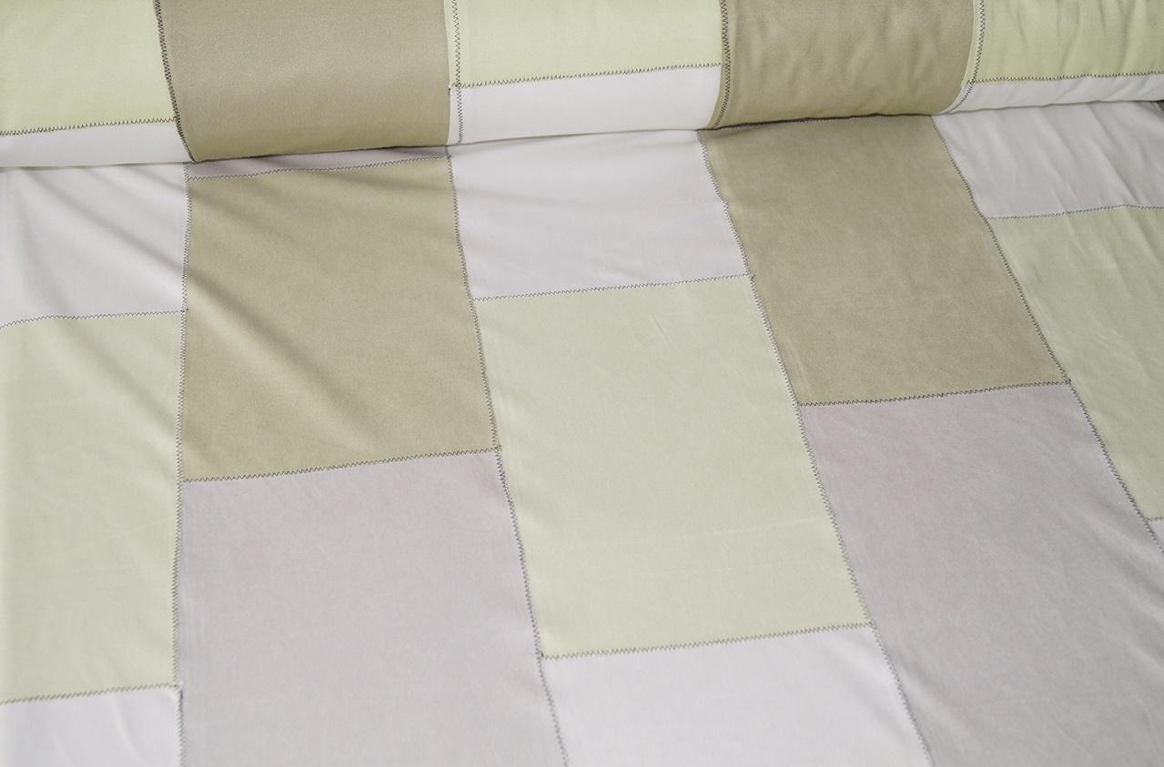 stoffe patchwork stoff in wildleder optik beige grau. Black Bedroom Furniture Sets. Home Design Ideas