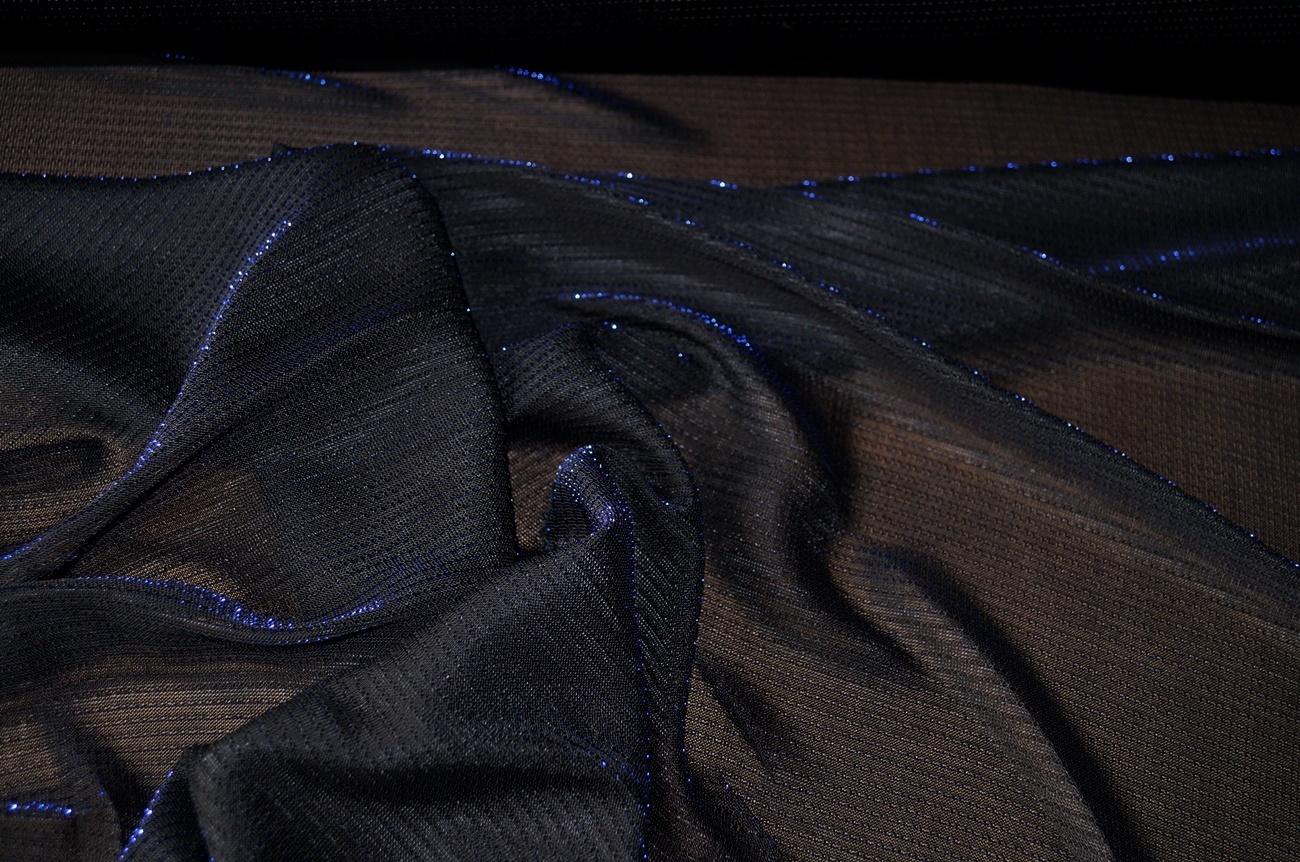 jersey stoffe online jersey stoff dunkelgrau glitzernd blau. Black Bedroom Furniture Sets. Home Design Ideas