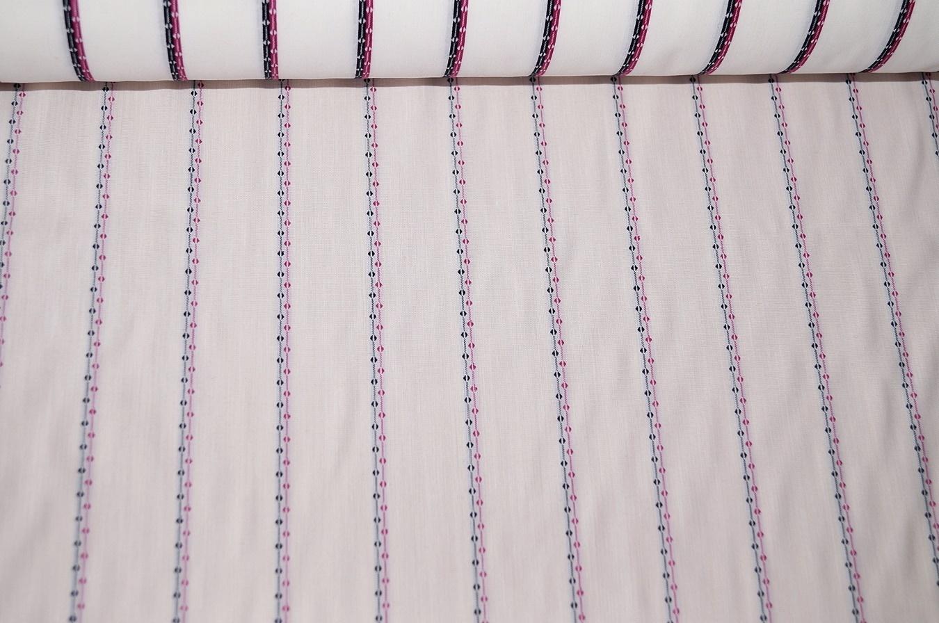 stoffe aus baumwolle kleiderstoff weiss gestreift schwarz pink. Black Bedroom Furniture Sets. Home Design Ideas