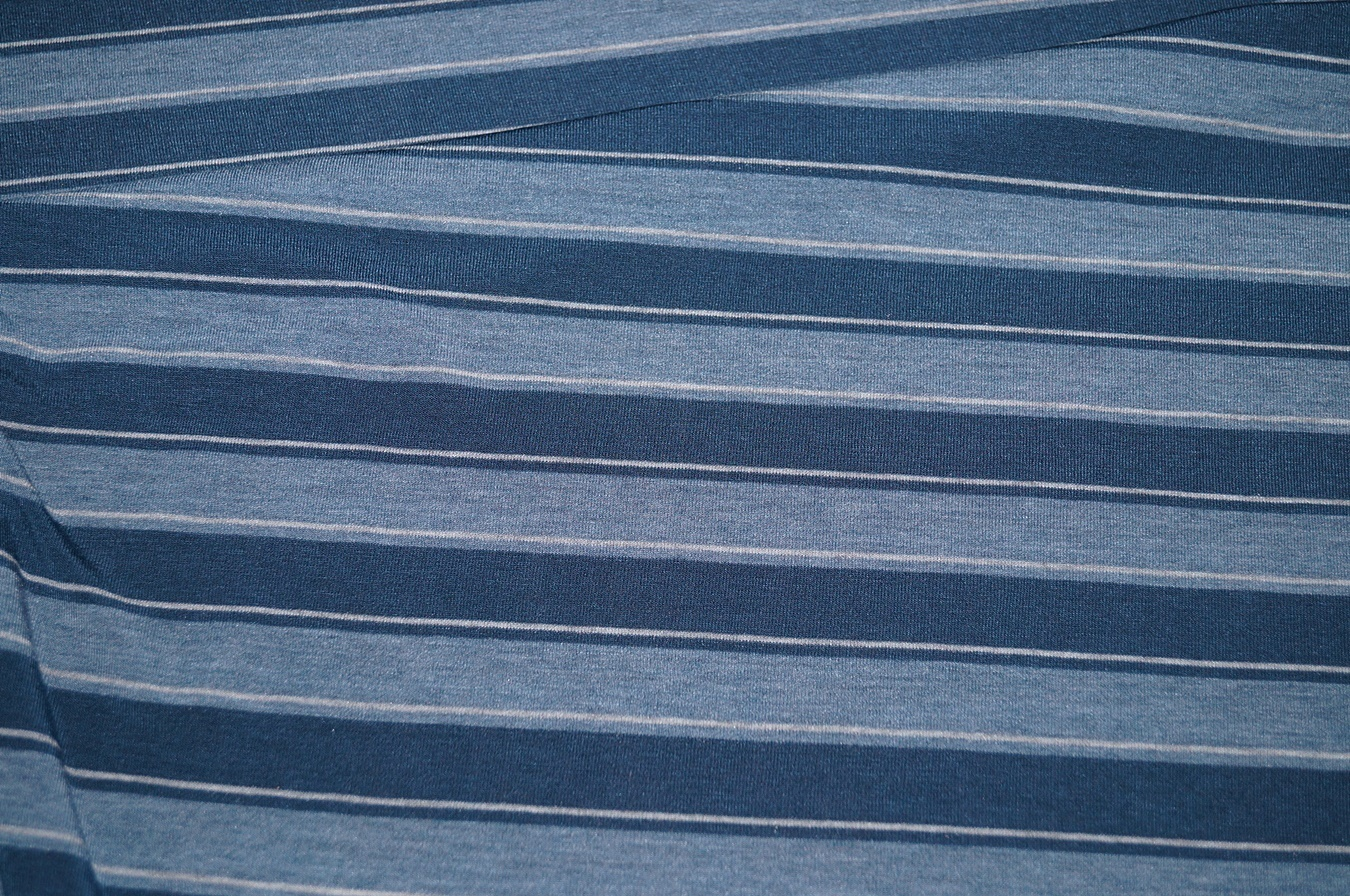viskose jersey stoff blau gestreift 01055 ebay. Black Bedroom Furniture Sets. Home Design Ideas