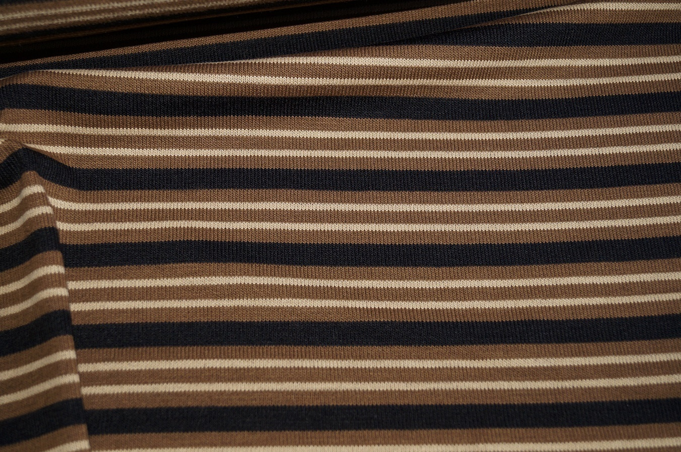 strickstoff braun gestreift schwarz beige 0416 ebay. Black Bedroom Furniture Sets. Home Design Ideas