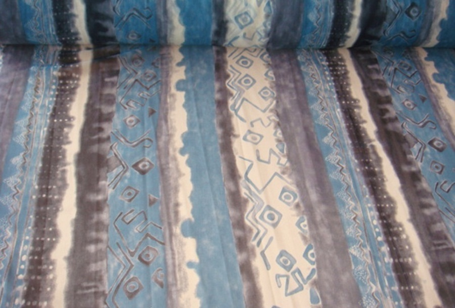 stoffe g nstig chiffon stoff blau grau weiss. Black Bedroom Furniture Sets. Home Design Ideas