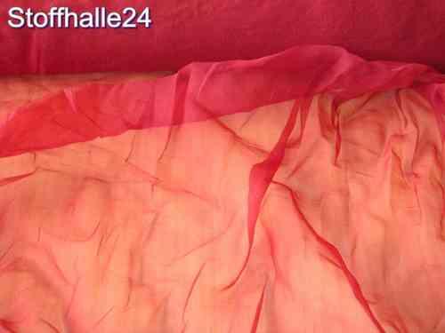 Kleiderstoff Dekostoff - Chiffon Stoff rot 15a4bdd270