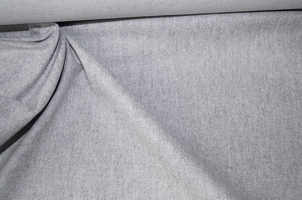 weich angerauhter Stoff grau meliert