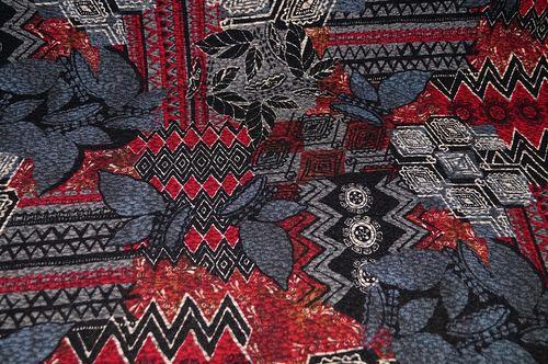 0c651b16 Jersey online - strukturierter Jersey Stoff schwarz-rot-grau