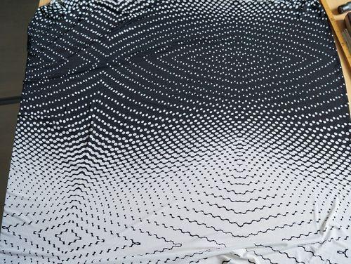 Jersey Stoff Schwarz Weiß Gemustert